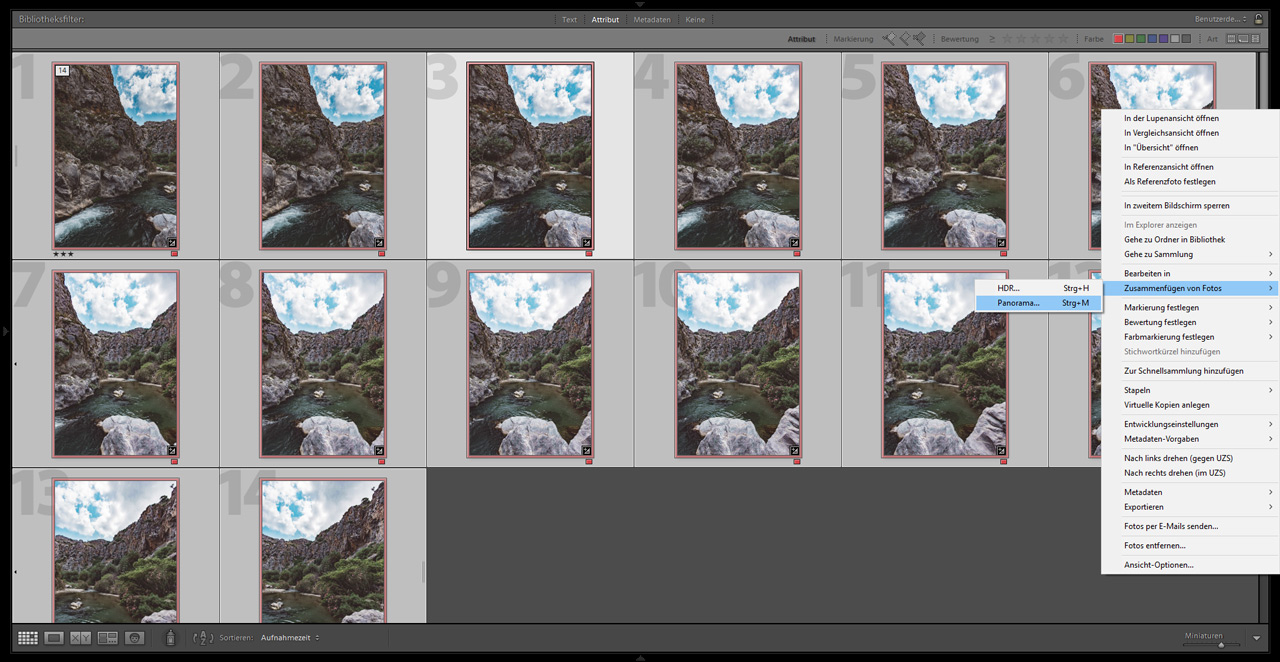 Lightroom Panorama Tutorial