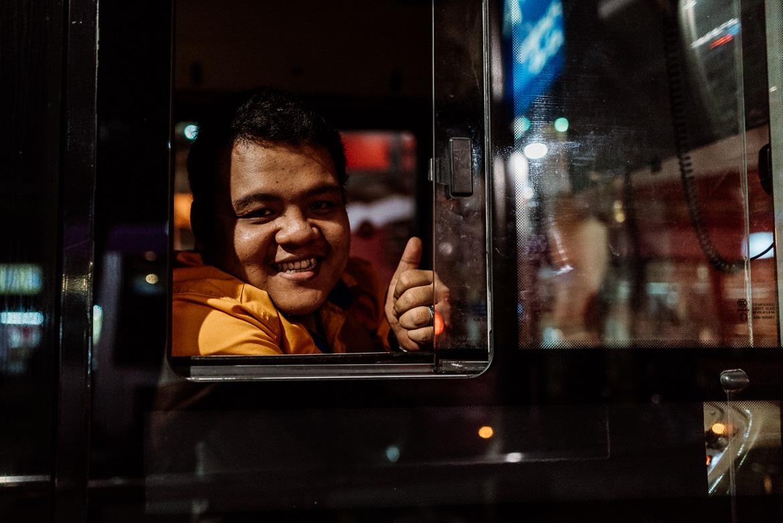 Busfahrer in Kuala Lumpur