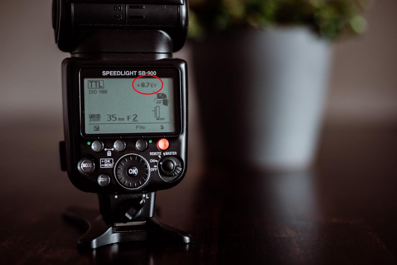 Fotografieren mit Blitz Blitz-Belichtungskorrektur