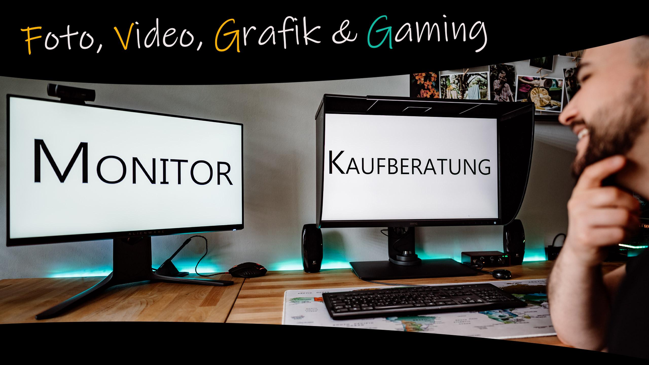 Monitor Kaufberatung Fotografie Videoschnitt Gaming Grafikdesign Thumbnail
