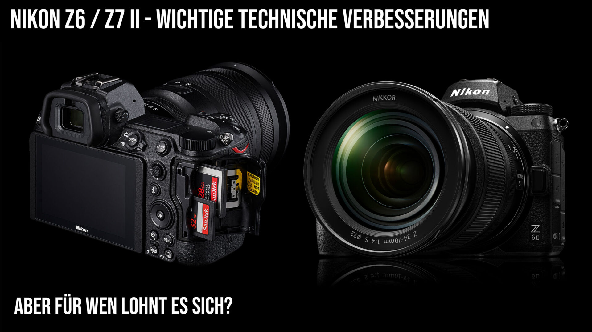 Nikon Z6 II und Z7 II vs Sony A9 A7 vs Canon R5 R6